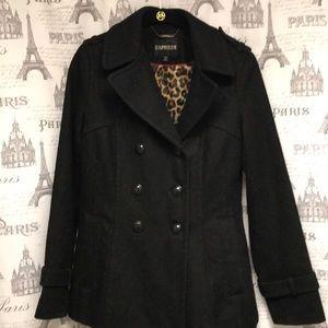 Express black pea coat